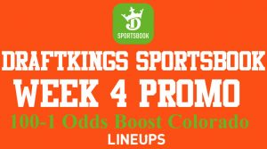 DraftKings Colorado NFL Week 4 Promotion: 100-1 Odds Boost on Any Game
