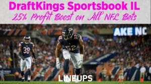 DraftKings Sportsbook Promo Illinois: 25% Profit Boost on all 13 Week 1 NFL Bets