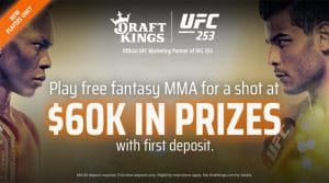 DraftKings Illinois Sports Betting Promo Code UFC 253: 100-1 Odds