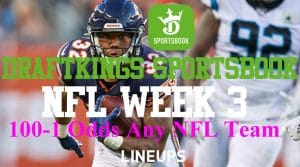 DraftKings Illinois NFL Promotion: 100-1 Odds On Any Team