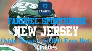 FanDuel Sportsbook New Jersey Promos: NFL Week 3 Odds Boost & $1,000 Free Bet