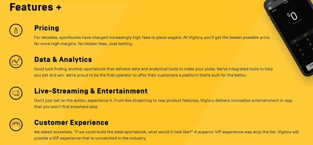features vigtory sportsbook