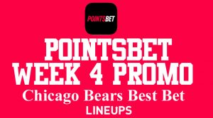 PointsBet Illinois Best Price NFL Promo Week 4 + Chicago Bears Best Bet