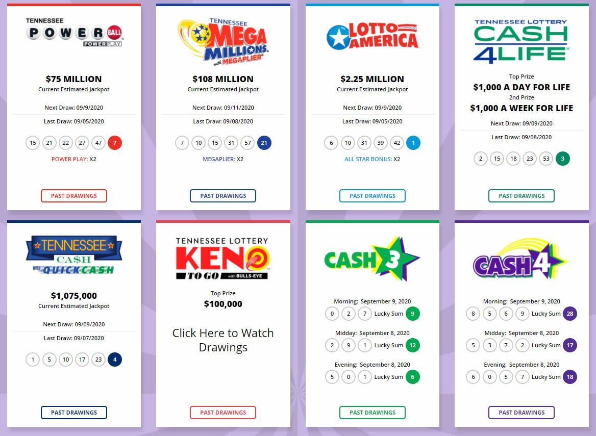 tennesse lottery games