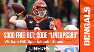 William Hill Illinois $300 Risk-Free Bet Promo Code and TNF Best Bet
