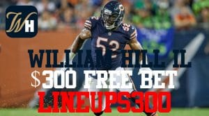 William Hill Sportsbook Live in Illinois: Mobile App Review & Promo Code LINEUPS300