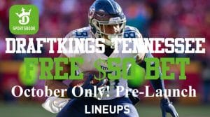 $50 Pre-Launch Bet in Tennessee with DraftKings Sportsbook