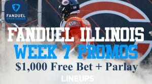 Illinois Bettors get $1,000 Free Bet on FanDuel Sportsbook + Same Game Parlay Promotion