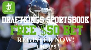 Bet on Sports Free in Tennessee: DraftKings Sportsbook Free $50 Bet Week 8 Promo