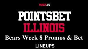 PointsBet Illinois Week 8 Chicago Bears Best Sports Betting Odds