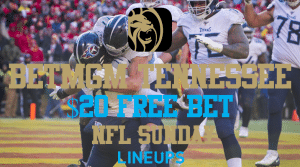 Receive a $20 Free Bet When Make an In-Game NFL Wager with BetMGM Tennessee