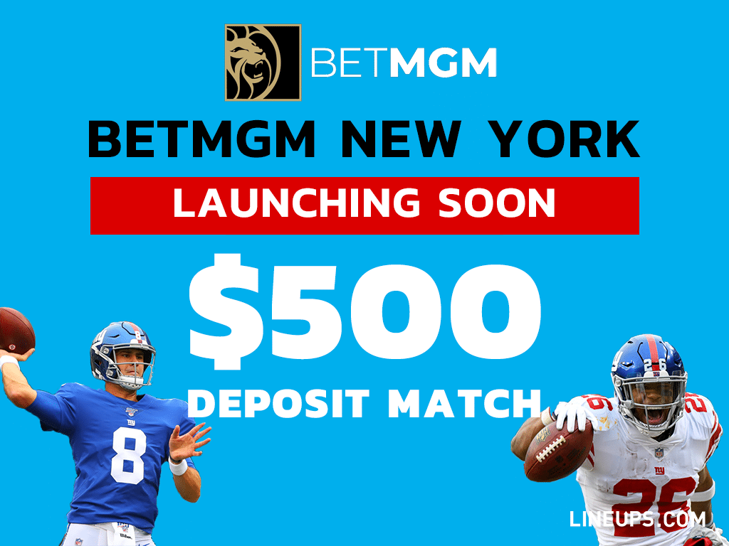 BetMGM New York $500 deposit Match for new users 1024