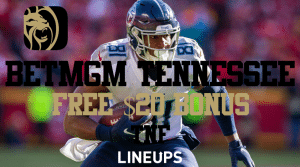 BetMGM Tennessee is Offering $20 in Free Bets for Thursday Night Football