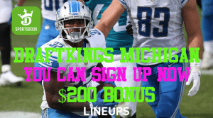 DraftKings Sportsbook Michigan Pre-Registration Offer of $200 & SNF Best Bet