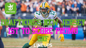 Risk-Free First to Score Bet for Sunday Night Football on DraftKings New Jersey