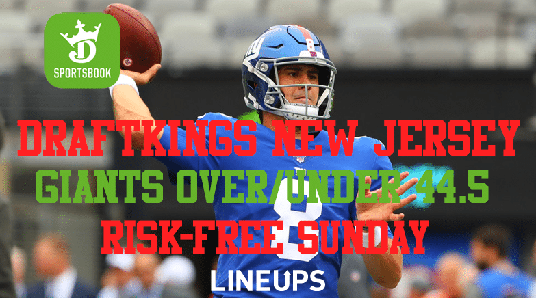 DraftKings Sportsbook New jersey Giants over under 44