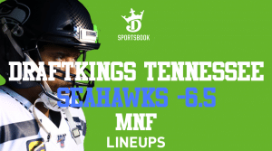 Seahawks -6.5 for Monday Night Football on DraftKings Tennessee