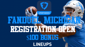 $100 in Free bets for Signing Up Now & Possible Promotions on FanDuel Michigan