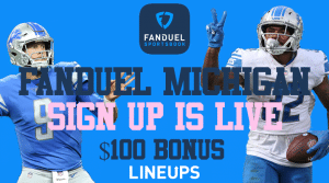 FanDuel Michigan is Offering a Sign-Up Bonus of $100 in Free Bets, Right Now!