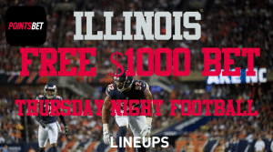 Illinois, Get a Free $1,000 Bet on Thursday Night Football Using PointsBet