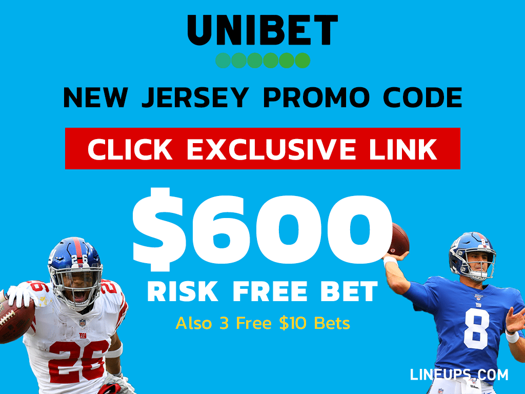 UniBet New Jersey $600 Risk-Free Bet plus 3 Free $10 bets