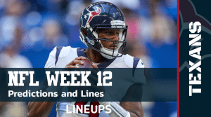 NFL Week 12 Predictions & Lines: Free NFL Betting Picks