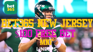 How to Get $100 in Free Bet Money For MNF With Bet365 New Jersey