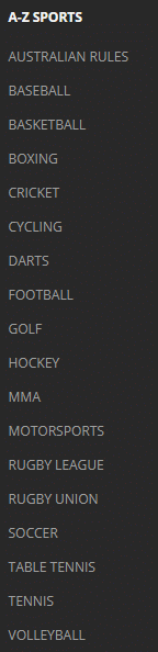 draftkings sportsbook sports offered