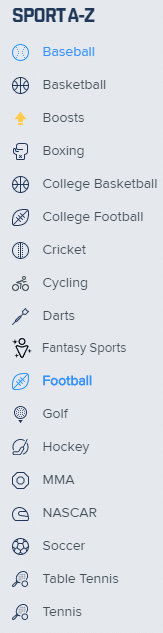 fanduel sportsbook sports offered