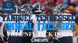 FanDuel Tennessee Sportsbook Unreal $1,000 Risk-Free Bet (Free NFL Pick Inside)