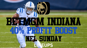 Make 40% More With Parlays on BetMGM Indiana This NFL Sunday