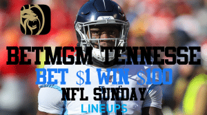 Bet $1 and Win $100 on the Titans With BetMGM Sportsbook Tennessee