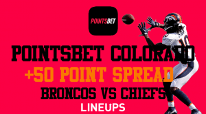 Get a Staggering +50 Points on Broncos Spread with PointsBet Colorado