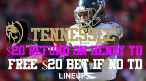 Get a Risk-Free Bet on Derrick Henry Scoring the First TD at BetMGM Tennesee