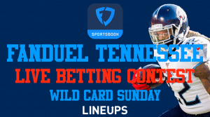 FanDuel Tennessee Free Live Betting Contest on Sunday Wild Card Games