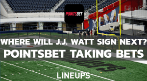 PointsBet Now Offering Odds On J.J. Watt's Next Team