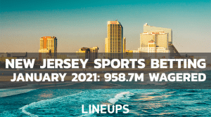New Jersey Reports $958.7M Wagered on Sports Betting in January, 2021