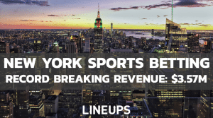 New York Sees Record Sports Betting Revenue of $3.57M in January