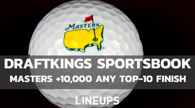 DraftKings Sportsbook Masters promo top-10