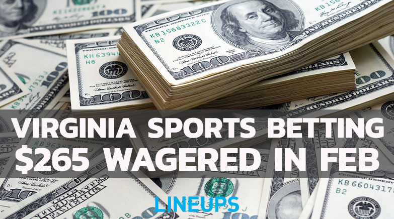 virginia february sports betting handle