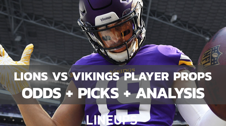 Lions Vikings Player Props