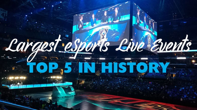 largest live esports events in history