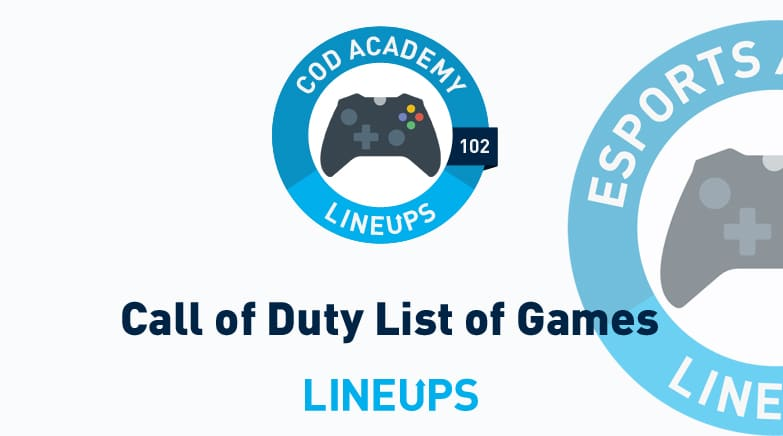 call of duty list of games
