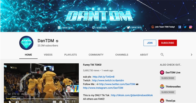 dan tdm you tube
