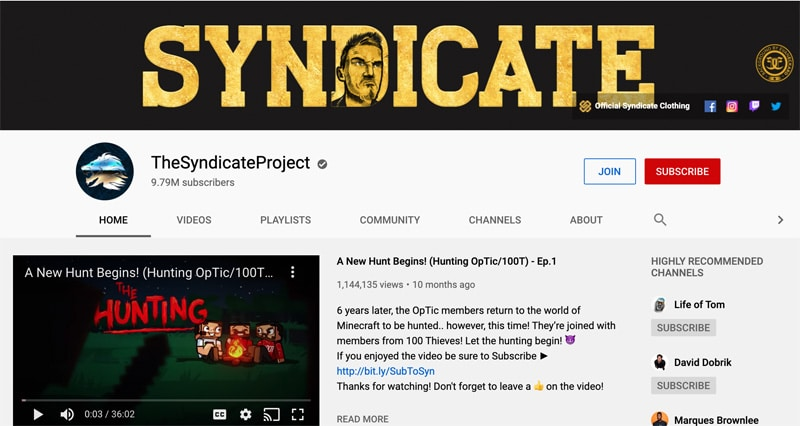 the syndicate project you tube